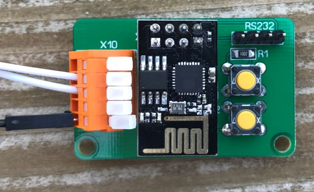 ESP8266 - Leeplatine bestückt